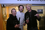 Thomas Dorfer - Landhaus Bacher in Mautern - mit Gattin und Leo Hillinger