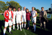 Spieler Team Austria, Margareta Reichsthaler-Obfrau Genussregion Österreich und Gault Millau Herausgeber Karl Hohenlohe