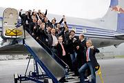Auf dem Weg nach Zürich in der Flying Bulls DC-6.