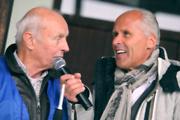 ORF-Legende Peter Elsner und Platzsprecher Didi Ziesel